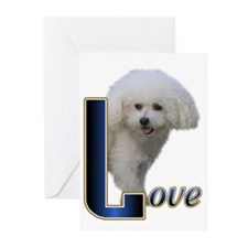 Bichon Frise Love Greeting Cards (Pk of 10)