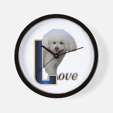 Bichon Frise Love Wall Clock