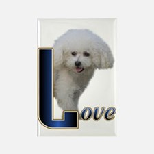 Bichon Frise Love Rectangle Magnet (100 pack)