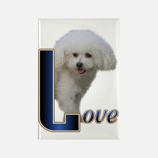 Bichon Frise Love Rectangle Magnet (10 pack)
