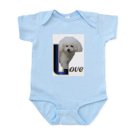 Bichon Frise Love Infant Bodysuit