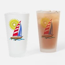 Sun and Sails Drinking Glass