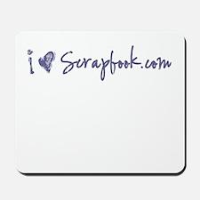 """""""i heart scrapbook.com"""" Mousepad"""