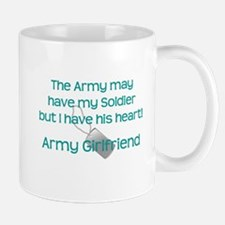 Army Girlfriend Heart Mugs