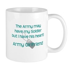 Army Girlfriend Heart Mugs