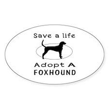 Adopt A Foxhound Dog Decal