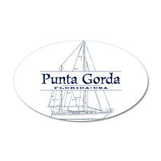 Punta Gorda - 20x12 Oval Wall Decal