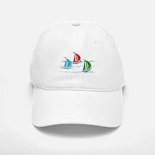 Three Yachts Racing Baseball Baseball Baseball Cap