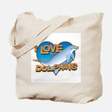 I Love Dolphins Tote Bag