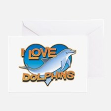 I Love Dolphins Greeting Cards (Pk of 10)
