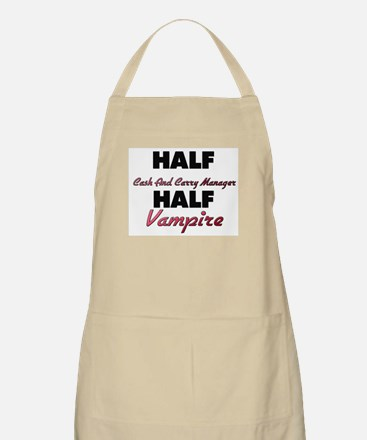Half Cash And Carry Manager Half Vampire Apron