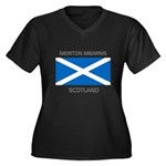 Newton Mearns Scotland Women's Plus Size V-Neck Da