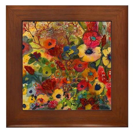 Symphony in Bloom Framed Tile