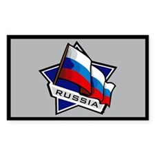 """""""Russia Star Flag"""" Rectangle Decal"""