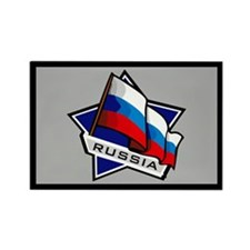 """""""Russia Star Flag"""" Rectangle Magnet"""