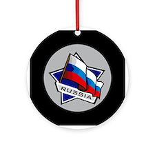 """Russia Star Flag"" Ornament (Round)"