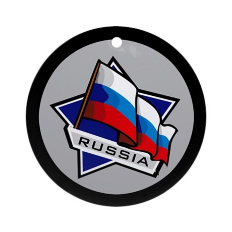 """Russia Star Flag"" Ornament (Round)"