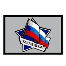 """""""Russia Star Flag"""" Postcards (Package of 8)"""