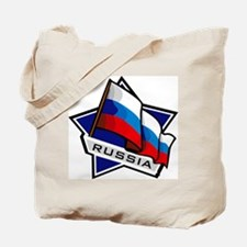 """Russia Star Flag"" Tote Bag"