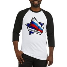 """Russia Star Flag"" Baseball Jersey"