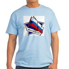 """Russia Star Flag"" T-Shirt"