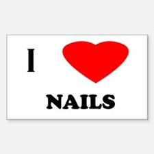 I love nails Rectangle Decal
