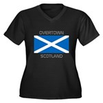 Overtown Scotland Women's Plus Size V-Neck Dark T-
