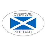 Overtown Scotland Sticker (Oval)