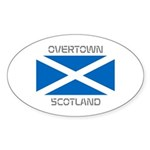 Overtown Scotland Sticker (Oval 10 pk)