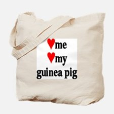LOVE ME LOVE MY GUINEA PIG Tote Bag