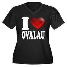 I Heart Ovalau Plus Size T-Shirt