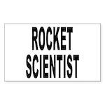 Rocket Scientist Rectangle Sticker