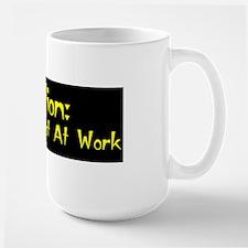 Caution: Mad Scientist! Large Mug