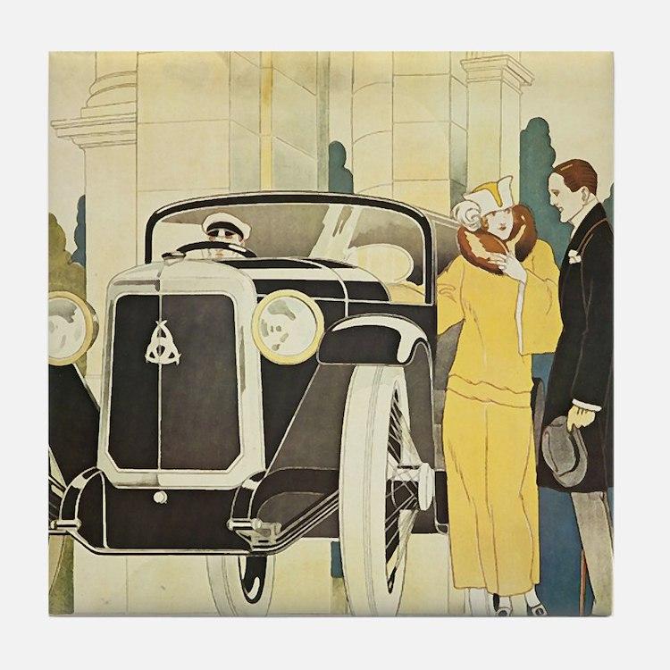 Art Deco Rendevous Tile Coaster
