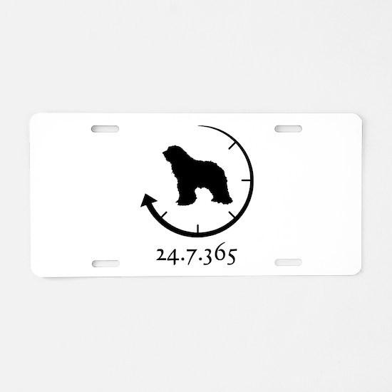 Bergamasco Sheepdog Aluminum License Plate
