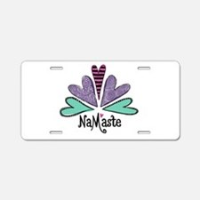 Namaste Cafe Swirls-Color L Aluminum License Plate