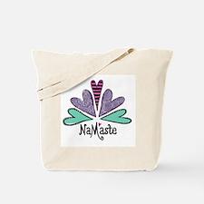 Namaste Cafe Swirls-Color L Tote Bag
