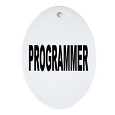 Programmer Oval Ornament