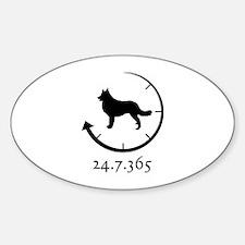 Belgian Tervuren Sticker (Oval)