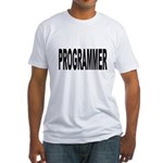Programmer (Front) Fitted T-Shirt