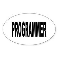 Programmer Oval Decal