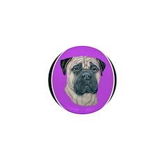 Fawn Bullmastiff Mini Button (100 pack)