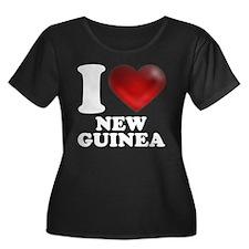 I Heart New Guinea Plus Size T-Shirt