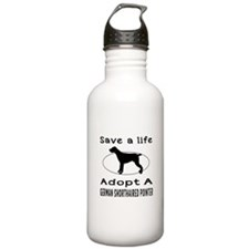 Adopt A German Shorthaired Pointer Dog Water Bottle