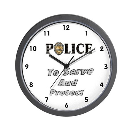Police Service Wall Clock