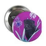 Black Chinese Pug Button