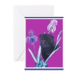 Black Chinese Pug Greeting Cards (Pk of 10)