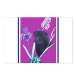 Black Chinese Pug Postcards (Package of 8)