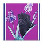Black Chinese Pug Tile Coaster
