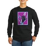 Black Chinese Pug Long Sleeve Dark T-Shirt
